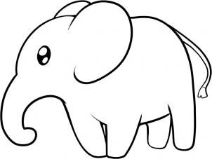302x227 Coloring Pages Fascinating How To Draw Elephants 5bb An Elephant