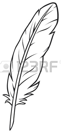 206x450 Quill With Drawn Line Royalty Free Cliparts, Vectors, And Stock