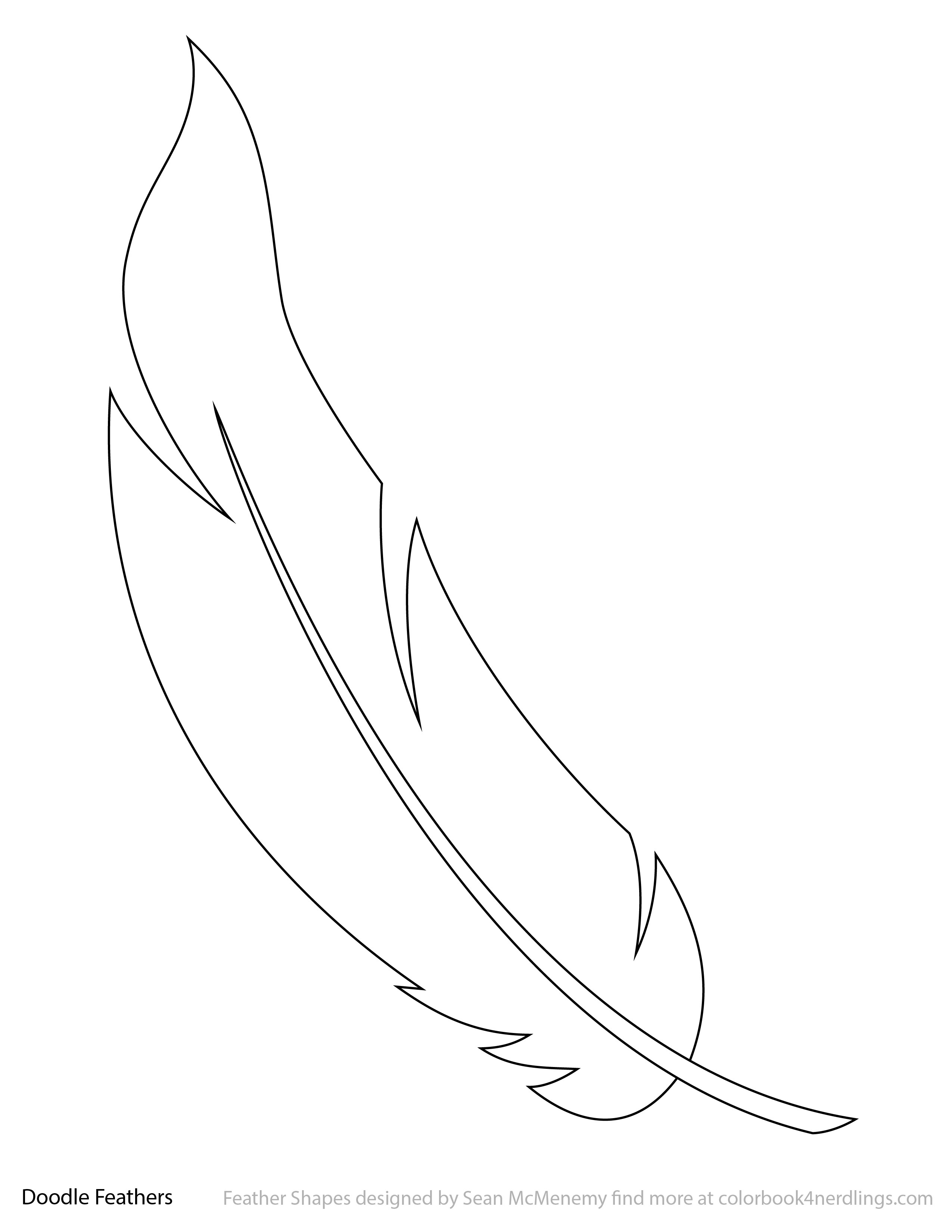 2550x3300 Use These Doodle Feathers As A Starter Drawing! Colorbook 4