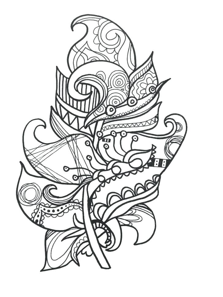 728x971 Feather Coloring Page Media