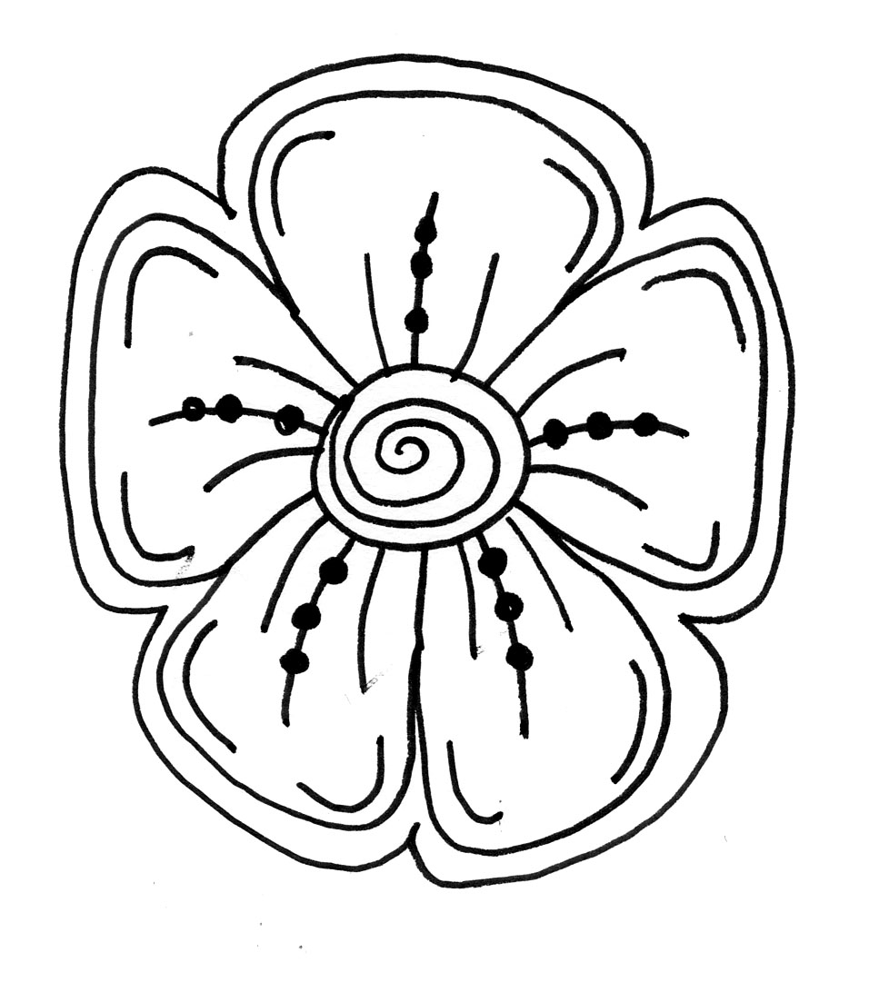 Line Drawing Flower at GetDrawings com | Free for personal use Line