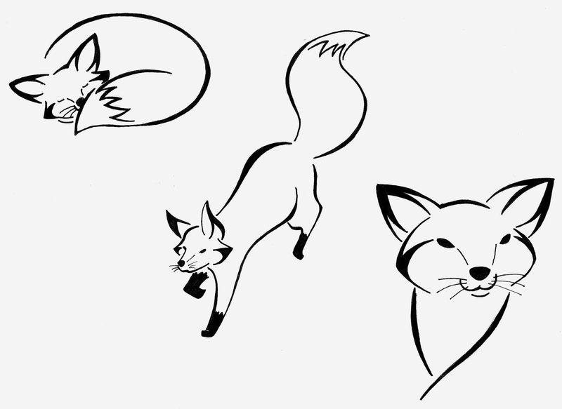 800x583 Easy Drawings Of Fox Fox Tribals 2 By Majykal Melodi Scraps 2011