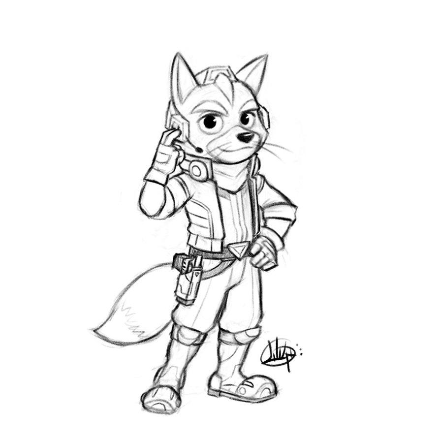 894x894 Fox Mccloud Sketch By Luigil