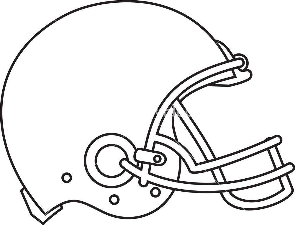 1000x762 American Football Helmet Line Drawing Royalty Free Stock Image
