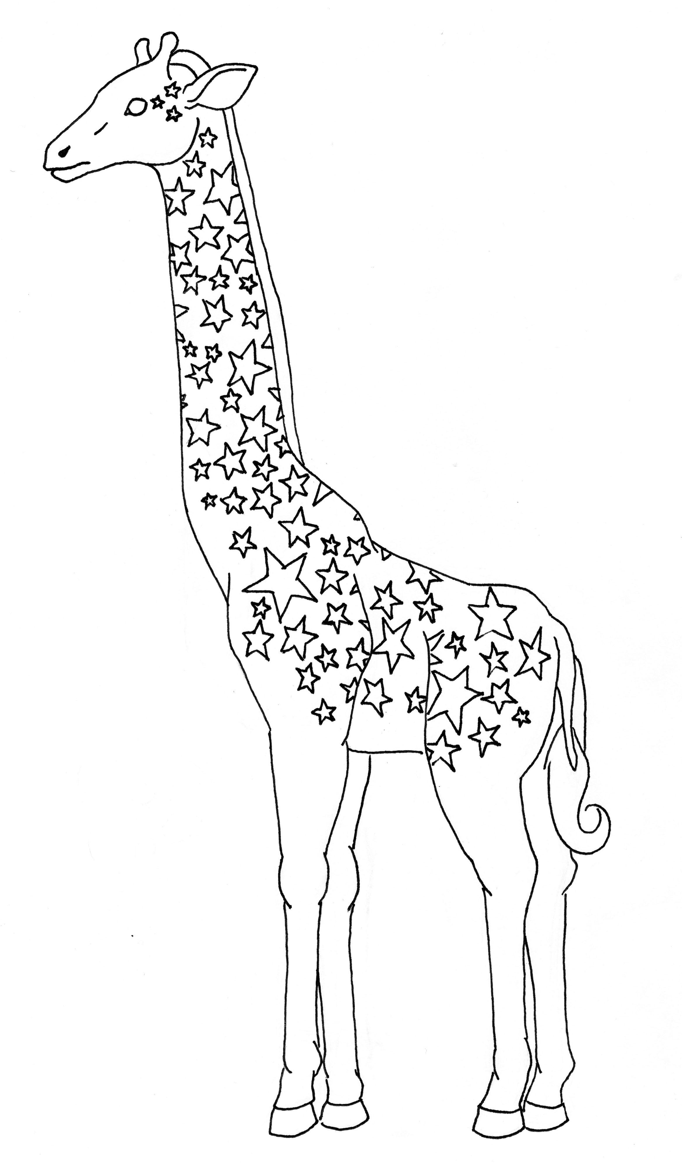 2335x4000 Giraffe Drawing Unique Giraffe Line Drawing Free Draw To Color