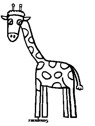 305x407 Giraffe Line Art By Rmnbn05