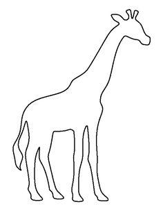 236x305 Simple Giraffe Outline Giraffe Body Brown Paper