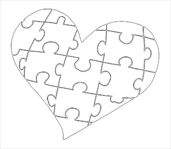600x521 Heart Drawings