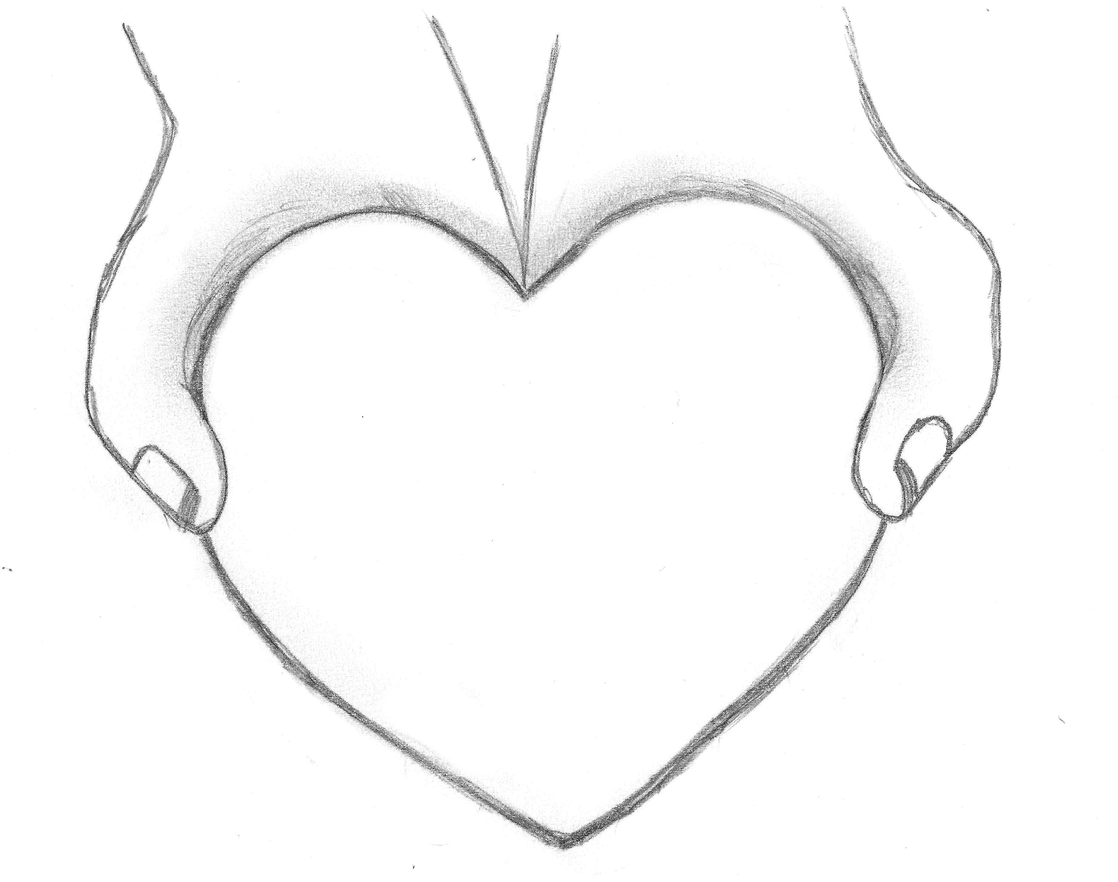 3688x2912 Heart Drawings For Your Boyfriend How To Draw Heart With Banner