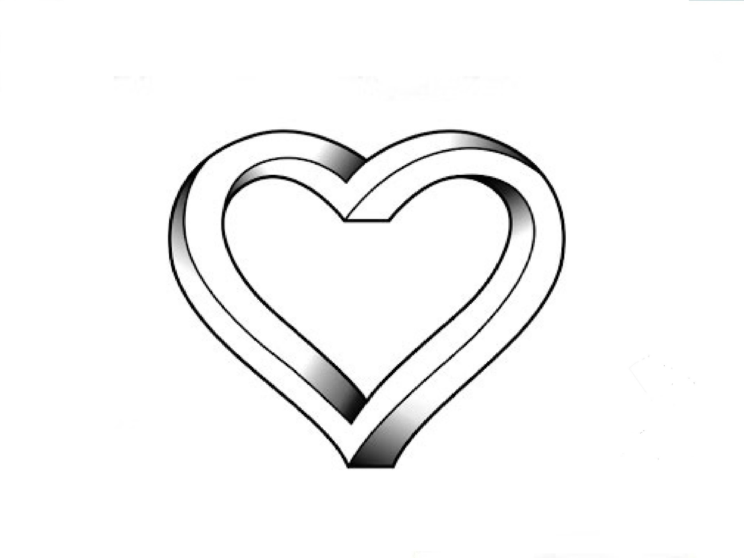 Line Drawing Heart At Getdrawings Com Free For Personal Use Line