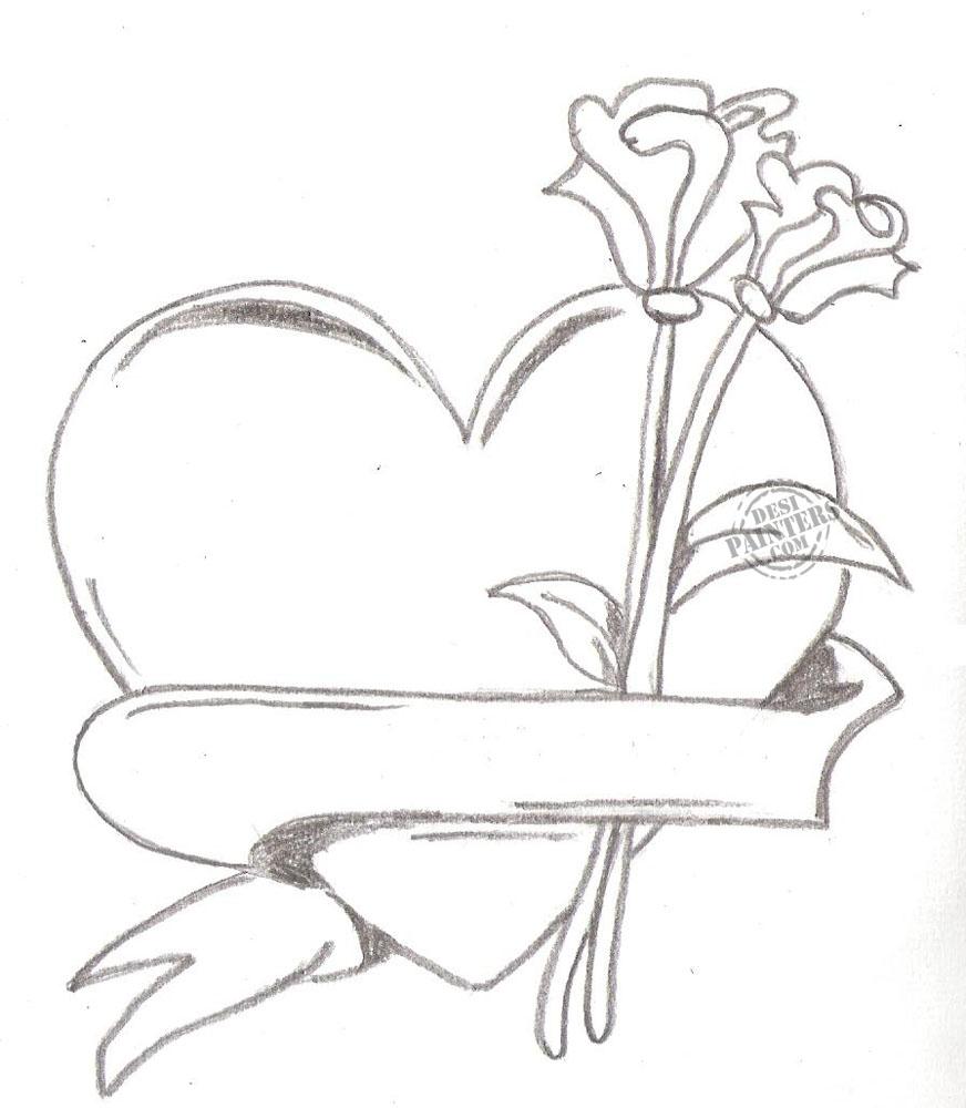 872x1000 Pencil Drawings Heart Drawings In Pencil