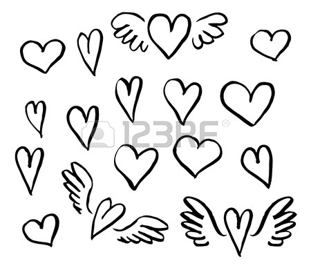 Line Drawing Hearts