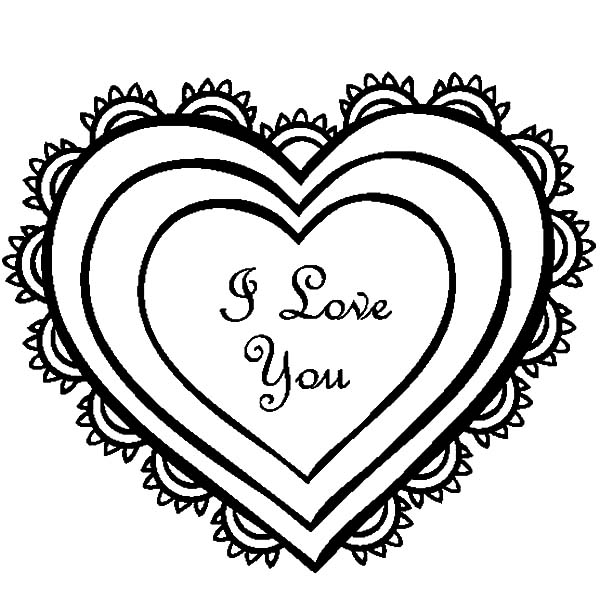600x612 Drawing Heart Of I Love You Coloring Pages Batch Coloring