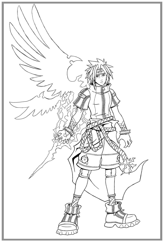 900x1324 Kingdom Hearts Sasuke Lines By Arvalis