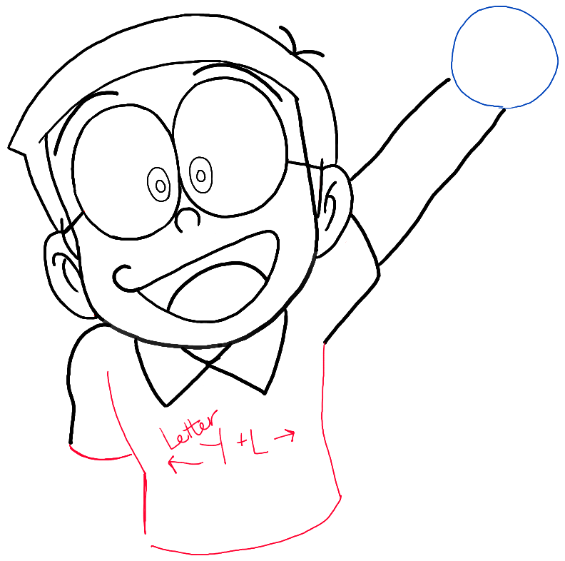 792x786 How To Draw Nobita Nobi From Doraemon With Easy Drawing Tutorial