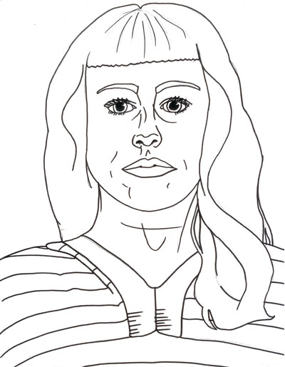 400x515 Self Portrait With Lines