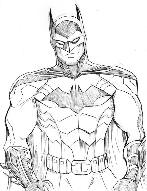 585x759 Fantastic Batman Drawings Download! Free Amp Premium Templates