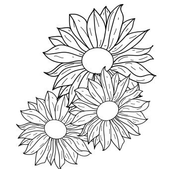 340x340 Flower Outline Vectors Download Free Vector Art Amp Graphics