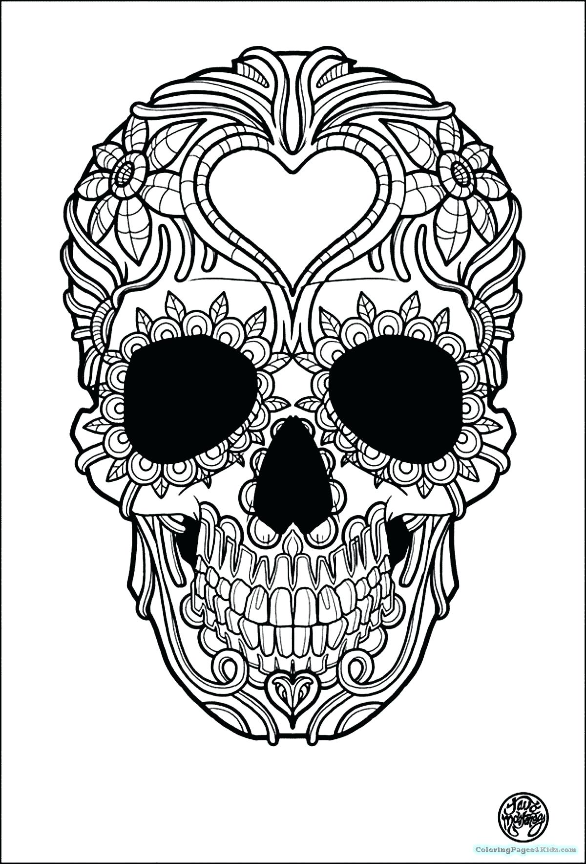 1200x1768 Coloring Pages ~ Sugar Skulls Coloring Pages Beautiful Skull Page