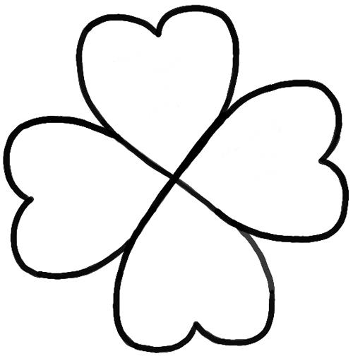 500x504 Edge How To Draw A Four Leaf Clover Or Shamrocks For Saint