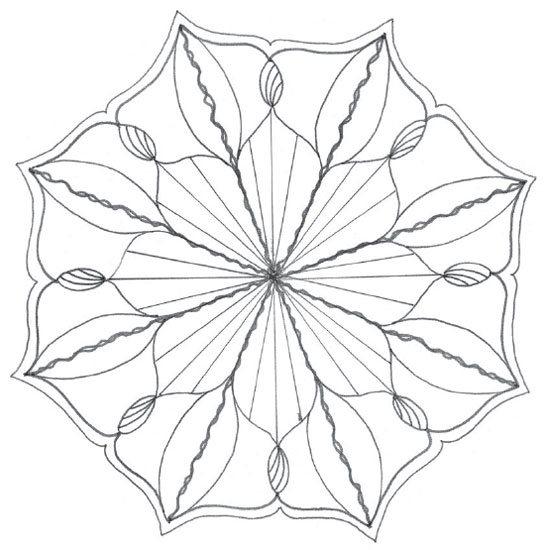 545x550 How To Draw A Mandala In Four Steps River Flower Mandala