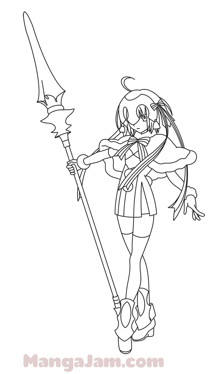 746x1280 How To Draw Santa Lily From Fategrand Order