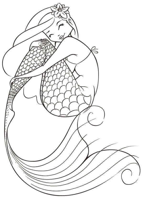 595x842 30 Stunning Mermaid Coloring Pages