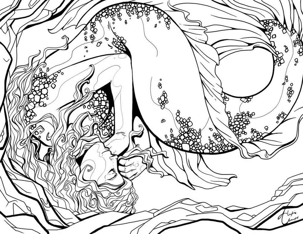 1017x786 Sleeping Mermaid Outline By Alexisunderwoodarts