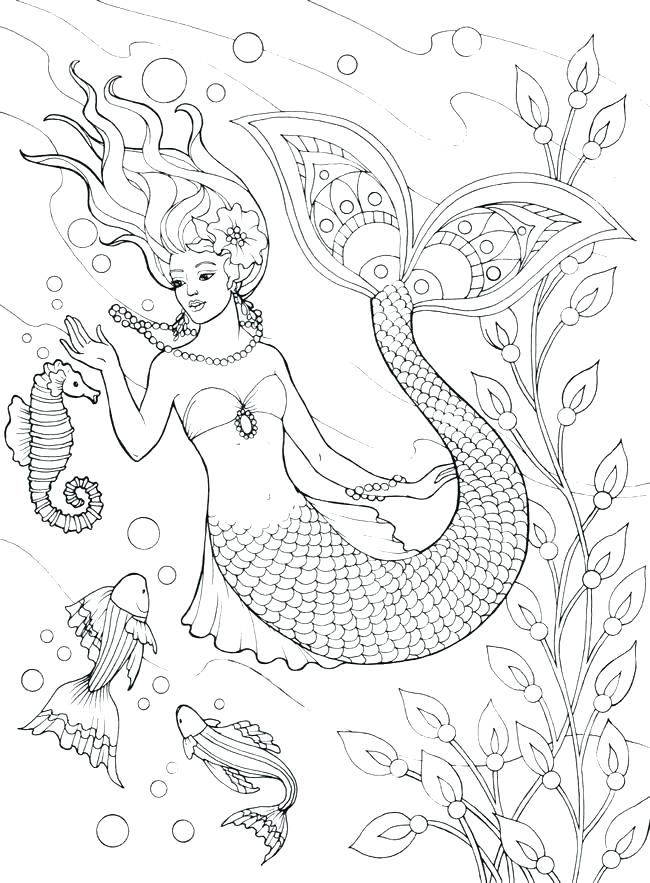 650x883 Unique Coloring Page Mermaid Print Pages The Little And Line