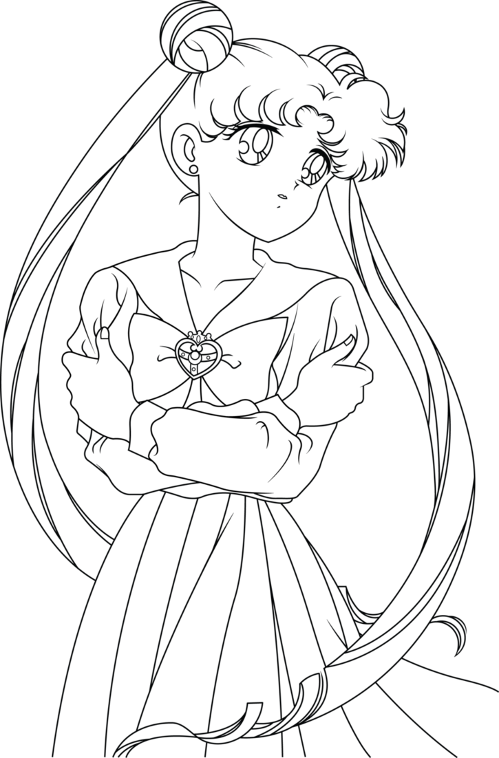 725x1102 Sailor Moon Line Art By Sayurixsama