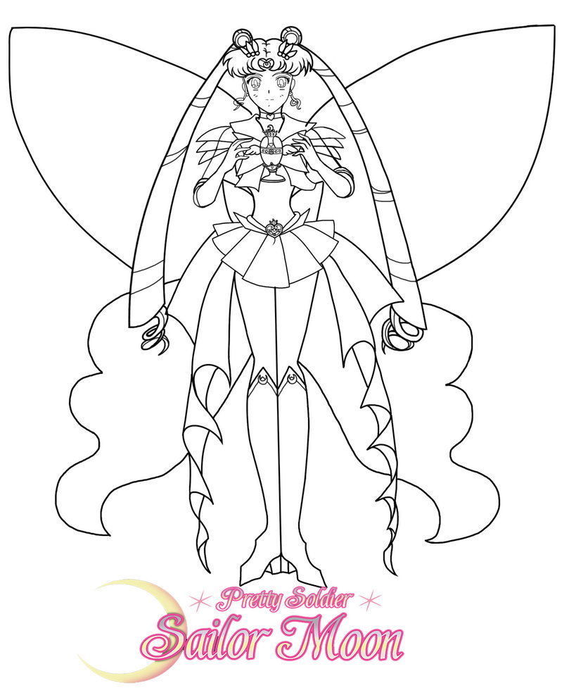809x987 Super Sailor Moon Line Art By Sailormuffin