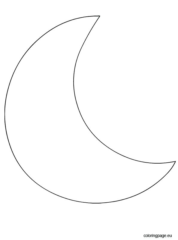 595x804 Crescent Moon Coloring Page Drawing Moon Coloring Page Crescent