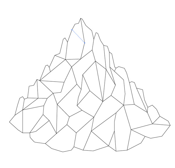 600x574 How To Create A Low Poly Art Mountain Illustration Mountain
