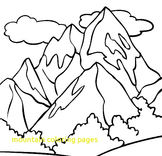 559x539 Mountain Coloring Pages With Mountain Top Coloring Page Amp Coloring