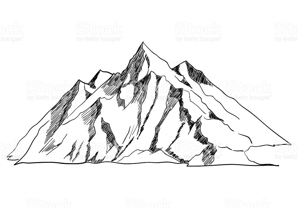 Line Art Mountain : Line drawing mountains at getdrawings free for