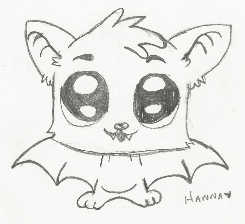 790x724 Baby Bat Drawing