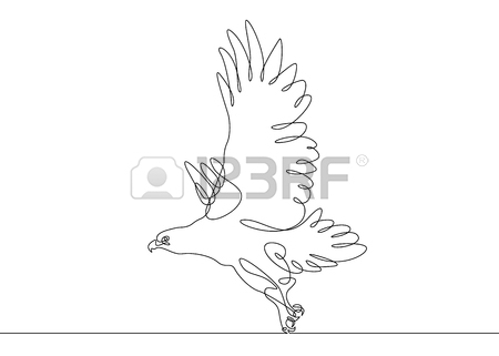 450x321 Continuous One Line Drawing Releasing A Bird From Hand To Flight