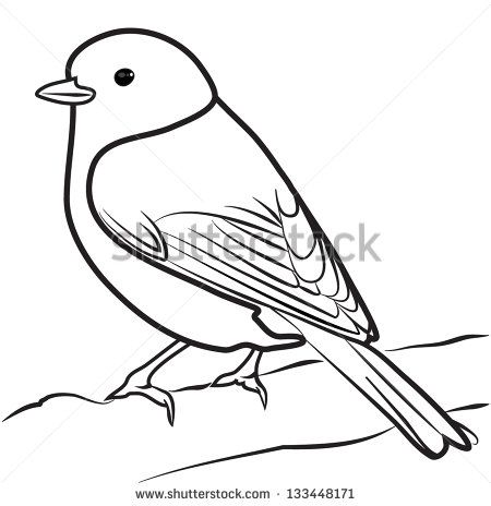 Line Drawing Of Bird