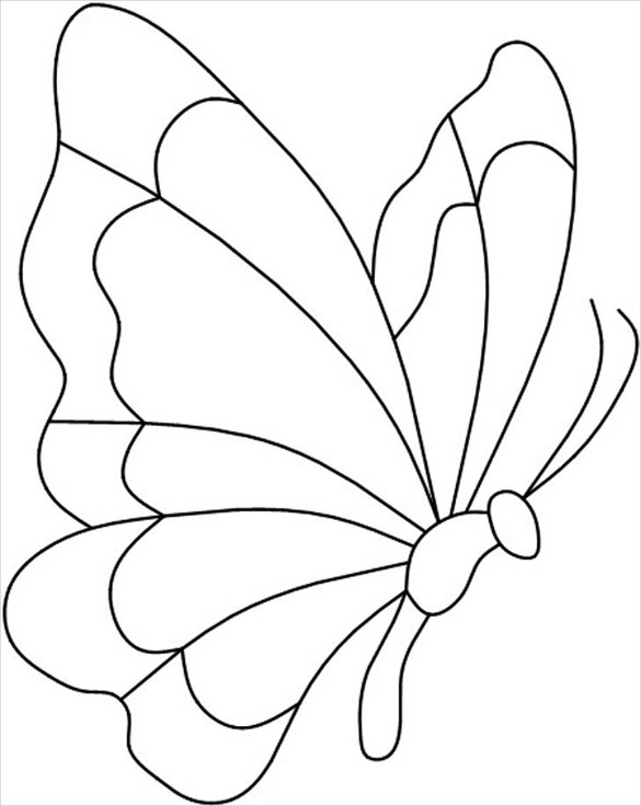 585x736 Butterfly Templates Printable Crafts Amp Colouring Pages