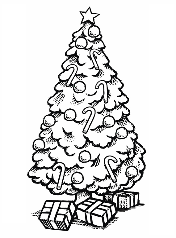 570x768 Christmas Tree Coloring