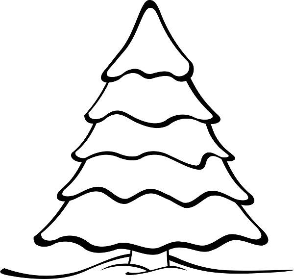 600x569 Basic Christmas Tree Outline Drawing Clip Art Pictures, Images