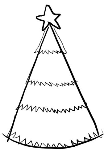 350x490 Steps To Drawing A Cartoon Christmas Tree Lesson For The Holidays