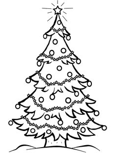 236x314 Christmas Tree Line Drawing Projects Christmas