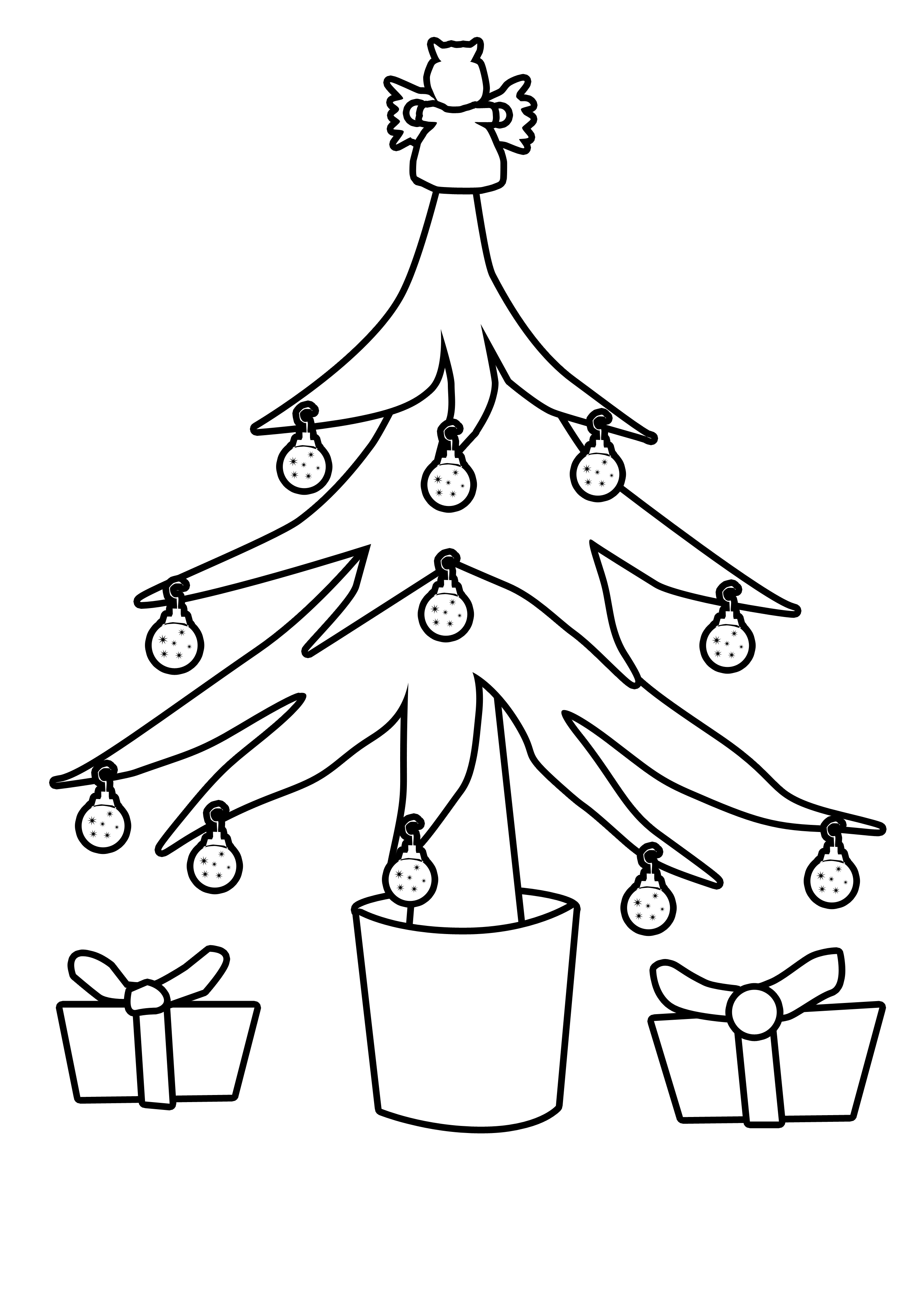 2480x3508 Christmas Tree Outlines