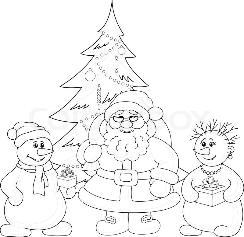 800x779 Christmas Outline Pictures