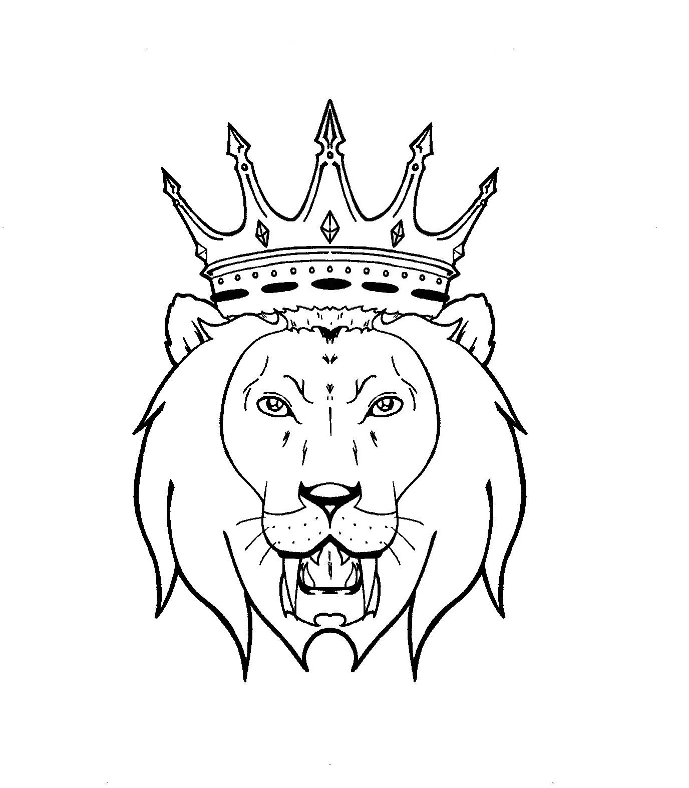 Line Drawing Of A Crown