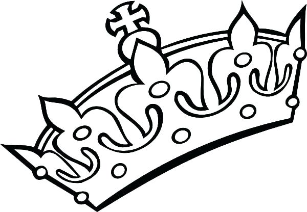 600x416 Crown Coloring Page Crown Coloring Pages King Crown Coloring Pages