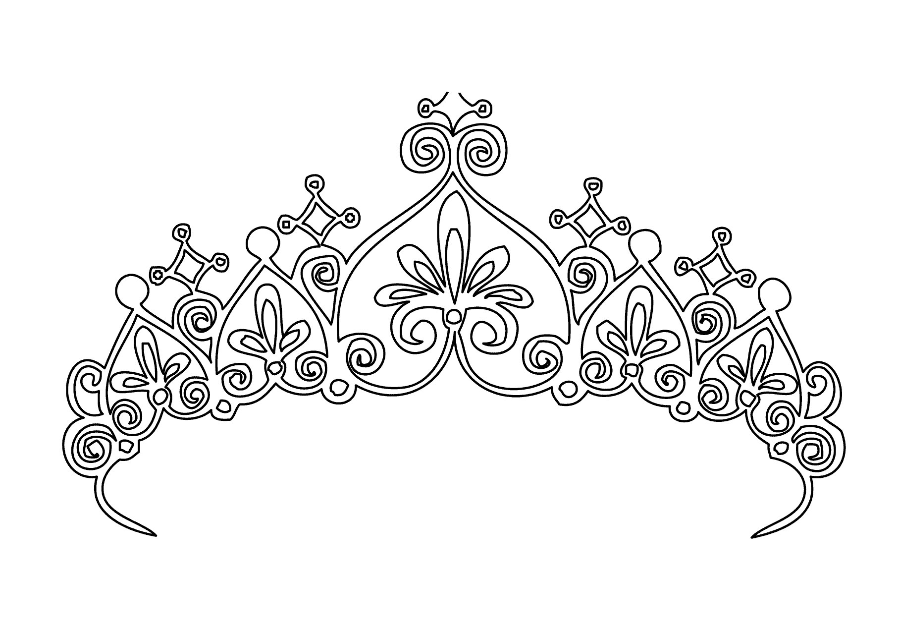 1813x1277 Drawing Of A Tiara How To Draw A Princess Crown