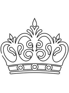 236x315 Tiara Pattern. Use The Printable Outline For Crafts, Creating
