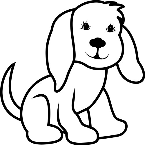 500x498 Dogs Outline Group